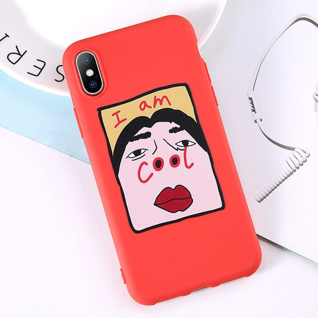 Funny Face Silicon iPhone Cases