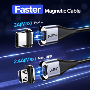 Magnetic Micro USB Cable Fast Phone Charging Cable