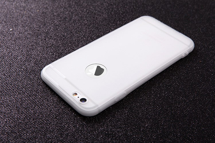White iPhone Case Silicone TPU Ultra Thin Back Cover