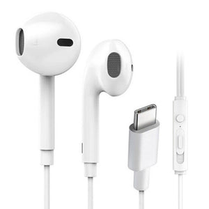 White Type-C Line Control Earphone with Mic High-quality