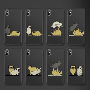 Pug puppy Cartoon Phone Case For iPhone