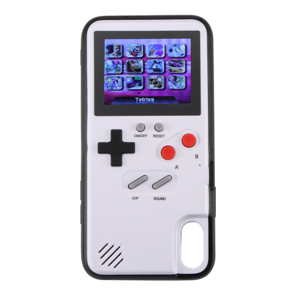 "Retro 2.4"" Color Screen Game Phone Case for IPHONE  X - XS MAS White"