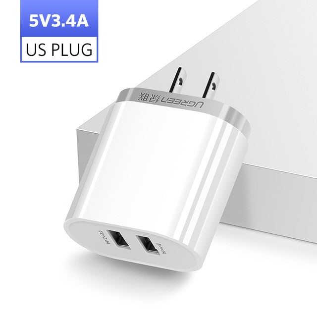 3.4A 17W Smart USB Wall Charger