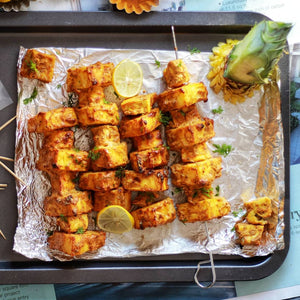 Spiced Pineapple Paneer Kebabs
