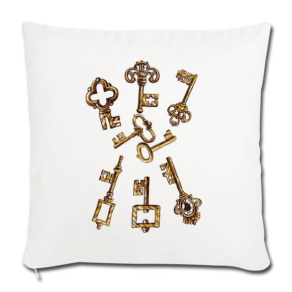 "The Key JazzyJ Designs Throw Pillow Cover 18"" x 18"" - Shopit Store"