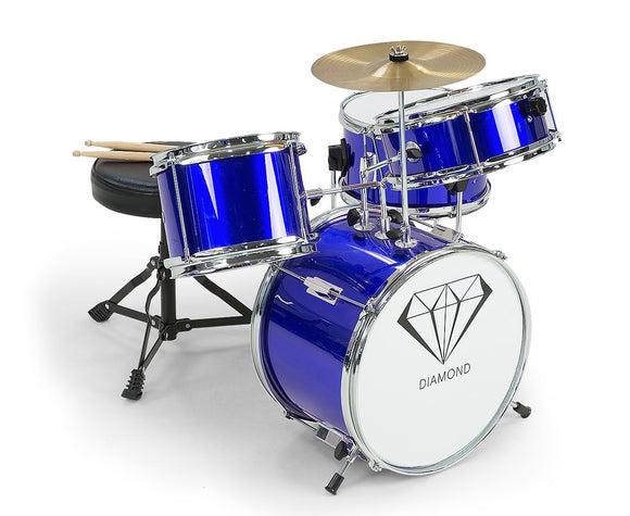 CHILDREN'S 4PC DRUM KIT - BLUE - Shopit Store