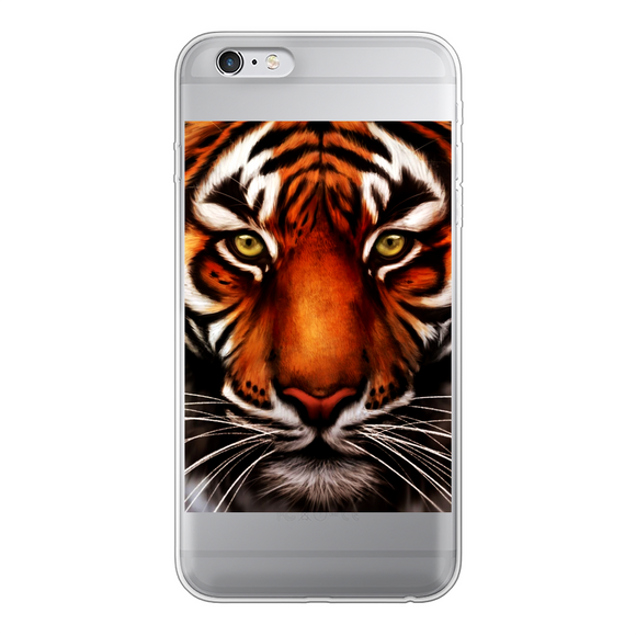 Tiger Back Printed Transparent Soft Phone Case - Shopit Store