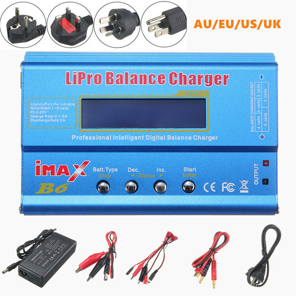 iMAX B6 Digital 80W 1-6S RC NiMH Battery Charger For RC Drone Remote Control Toys - Shopit Store