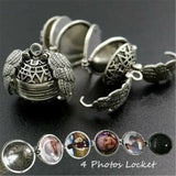 Expanding Photo Locket Necklace Pendant Angel Wings Gift Jewelry Decoration Girls Women - Shopit Store