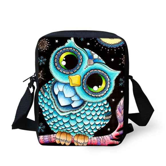 Anime Owl Messenger Bag For Women Girls Small Casual Crossbody Travel Shoulder Tote Bag - Shopit Store