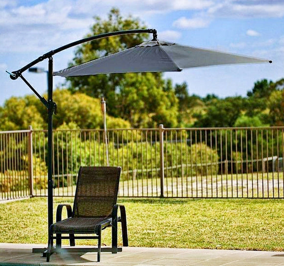 SORRENTO OUTDOOR LIVING CANTILEVER UMBRELLA 2.7M - GREEN - Shopit Store