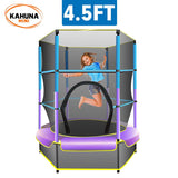 KAHUNA MINI 4.5 FT TRAMPOLINE WITH NET VARIOUS COLORS - Shopit Store