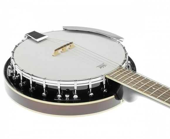 KARRERA 6 STRING RESONATOR BANJO - BROWN - Shopit Store
