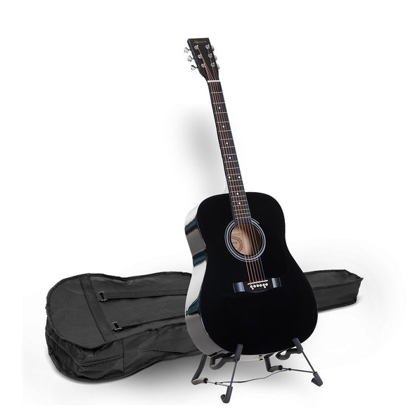 KARRERA 41 IN ACOUSTIC WOODEN GUITAR WITH BAG - BLACK-NATURAL - Shopit Store