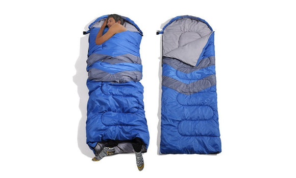 MICRO COMPACT DESIGN THERMAL SLEEPING BAG PURPLE-BLUE - Shopit Store