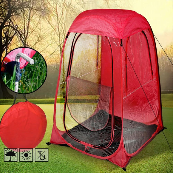 POP UP SPORTS CAMPING FESTIVAL FISHING GARDEN WEATHER BREAK TENT RED-BLUE - Shopit Store