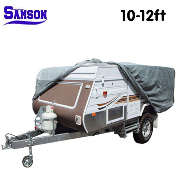 SAMSON HEAVY DUTY TRAILER CAMPER COVER 10-12FT 12-14FT 14-16FT - Shopit Store