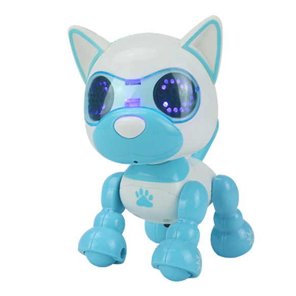 Interactive Intelligent Smart Puppy Robotic Electric Touch Dog Toy LED Eyes Sound Recording - Shopit Store