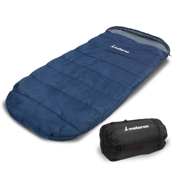 WALLAROO CAMPING SLEEPING BAG THERMAL HIKING - 220 X 100 - LEFT ZIPPER - Shopit Store