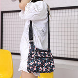 Waterproof Nylon Art Deco Print Summer Crossbody Shoulder Bag Flower, Elephant, Various Designs - Shopit Store