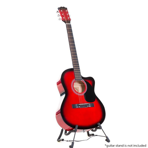 KARRERA ACOUSTIC CUTAWAY 40IN GUITAR - RED - Shopit Store