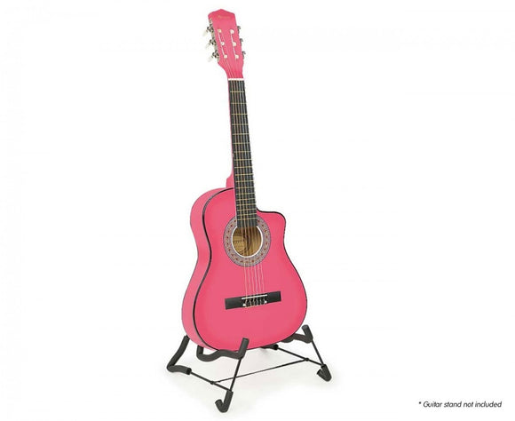 KARRERA CHILDRENS ACOUSTIC GUITAR-PINK-PURPLE-BLUE-GREEN - Shopit Store
