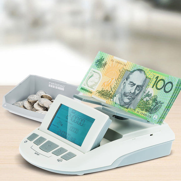ELECTRONIC MONEY COUNTER WEIGH SCALE BANKNOTES & COINS-shopit store australia
