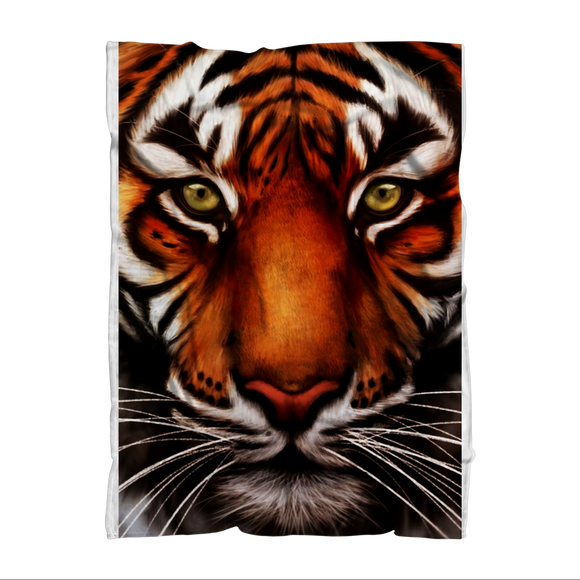 Tiger Sublimation Throw Blanket - Shopit Store