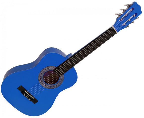 KARRERA 34IN ACOUSTIC CHILDREN NO CUT GUITAR - BLUE - Shopit Store