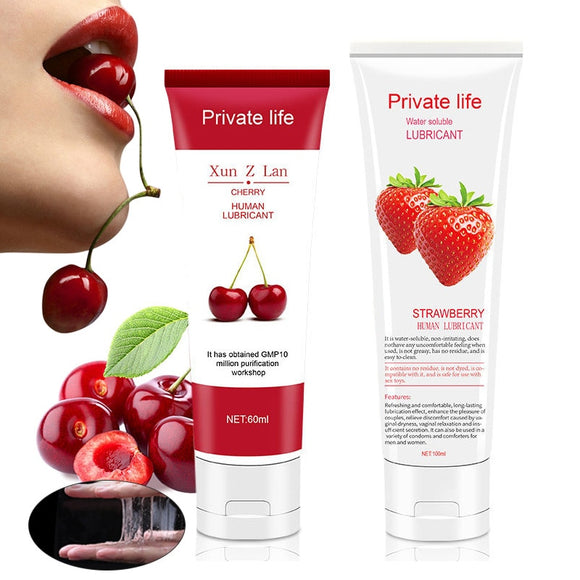 Private Life Fruit Flavors Lubricant Intimate Massage Oil Gel - Shopit Store