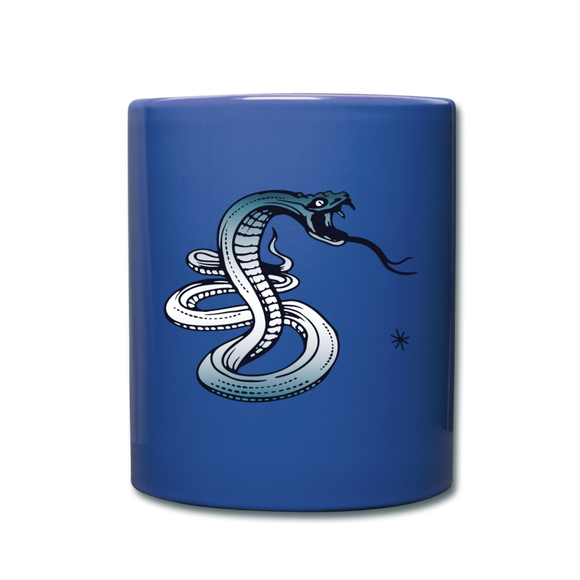 Full Color Mug Blue - Snake Dagger Run Novelty Coffee Beverage Cup - Shopit Store