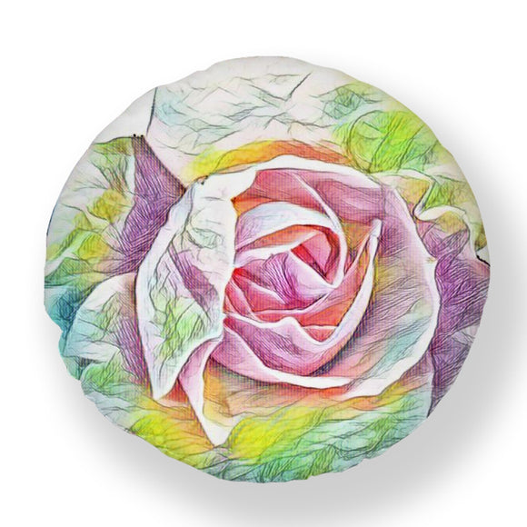 Art Deco Rose Garden Rainbow Pillow Cushion Cover - Shopit Store