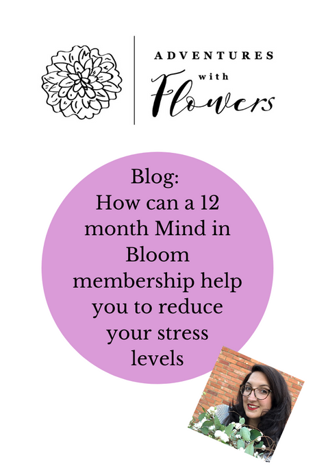 How can a 12 month Mind in Bloom membership help you to reduce your stress levels
