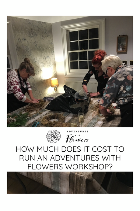 How much does it cost to run an Adventures with Flowers workshop?