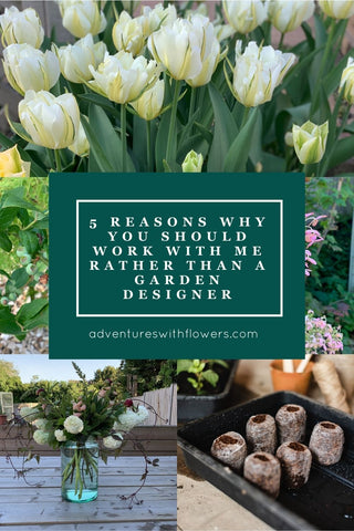 5 reasons why you should work with me rather than a garden designer