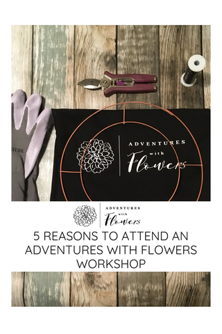Adventures with flowers apron, secateurs and gloves
