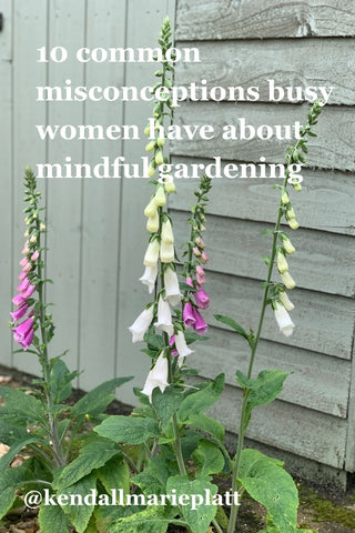 Link to 10 common misconceptions busy women have about mindful gardening blog image