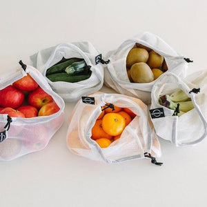 EARTHWARE REUSABLE PRODUCE BAGS - SET OF 3