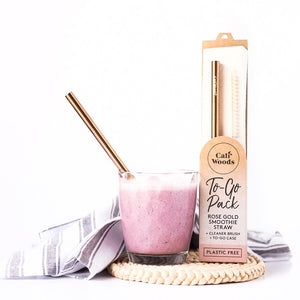 CALIWOODS TO GO PACK - SMOOTHIE STRAW IN ROSE GOLD