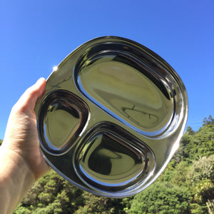STAINLESS STEEL CAMPING/KIDS PLATE