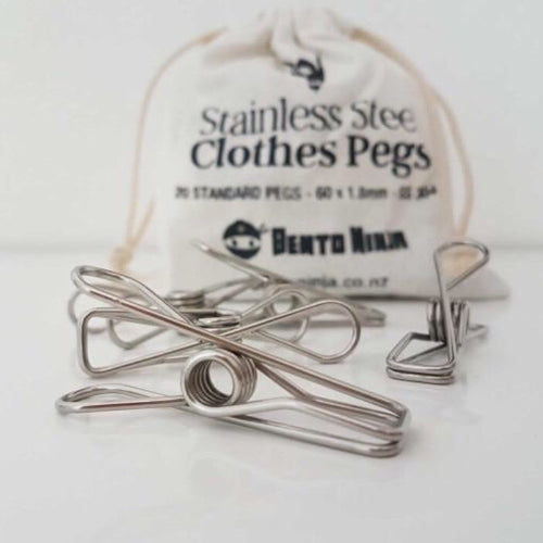 STAINLESS STEEL PEGS - SET OF 20