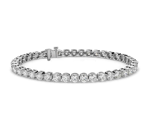10 CTW Diamond 14KT White Gold Tennis Bracelet