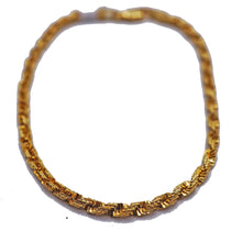 Load image into Gallery viewer, 18KT Yellow Gold Braid Bracelet