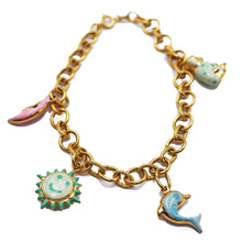 Load image into Gallery viewer, 18 KT Charm Bracelet