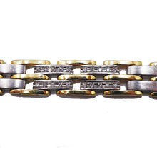 Load image into Gallery viewer, Yellow and White Gold Diamond Bracelet