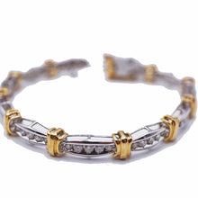 Load image into Gallery viewer, 5 CTW Diamond White & Yellow Tennis Bracelet