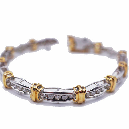 5 CTW Diamond White & Yellow Tennis Bracelet