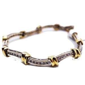 3 CTW Yellow & White Gold Diamond Tennis Bracelet
