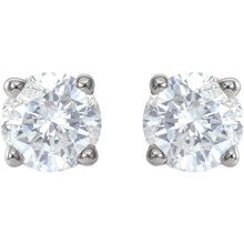 Load image into Gallery viewer, .90 CTW Diamond Stud Earrings