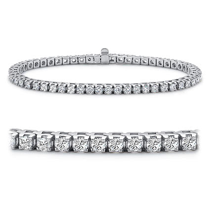 4 CTW Diamond 14KT White Gold Tennis Bracelet